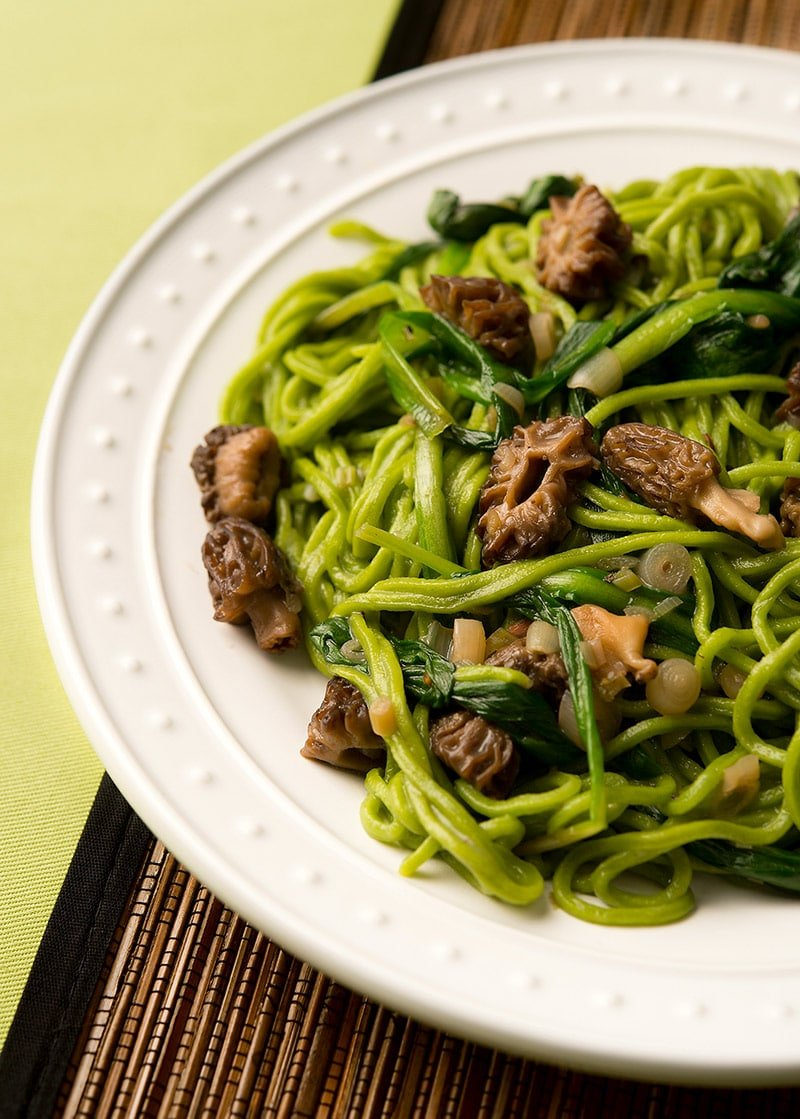 ramp pasta with morels recipe