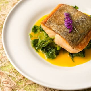 trout with saffron sauce