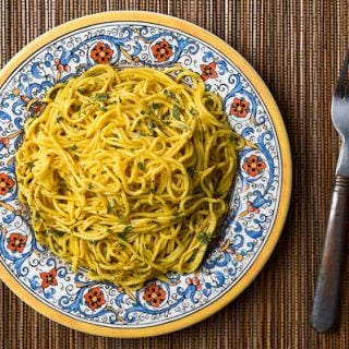 cattail pollen pasta
