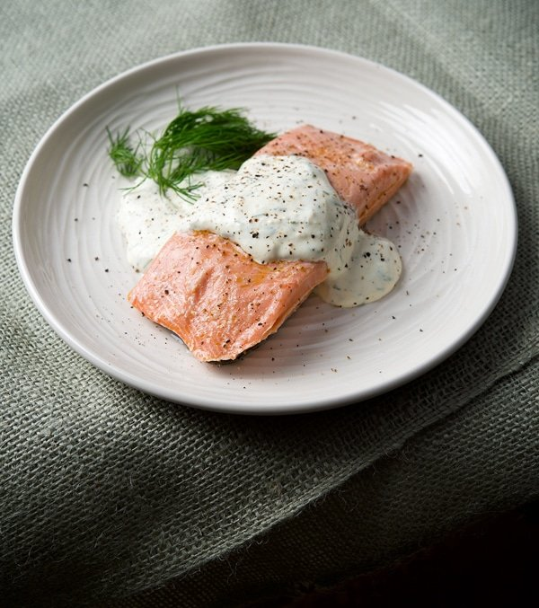 poached salmon recipe
