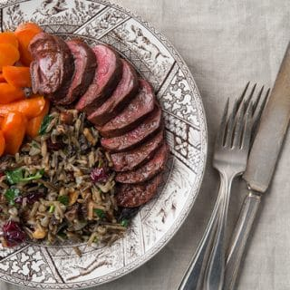 Duck Breast with Wild Rice Pilaf