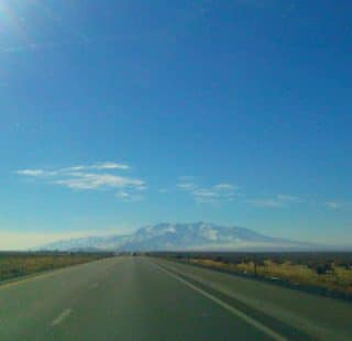 The open road in Nevada