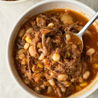 Kentucky burgoo in a bowl