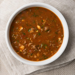 A bowl of Creole turtle soup