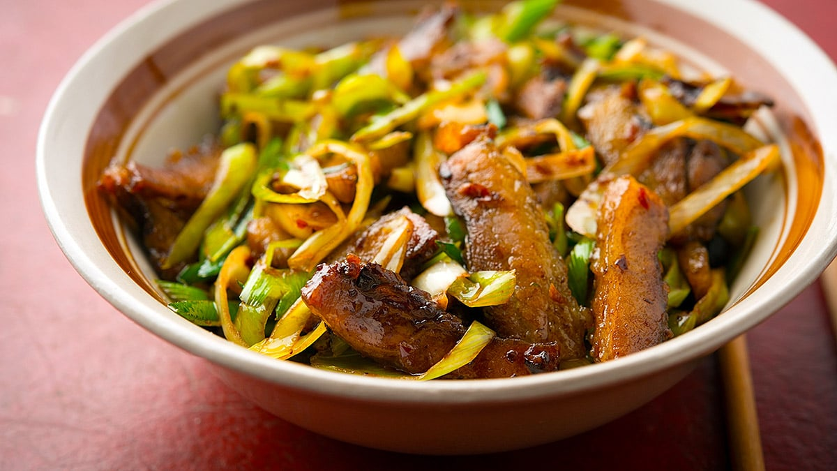 Chinese twice cooked pork, ready to eat
