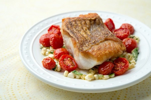 seared red snapper with cherry tomatoes recipe