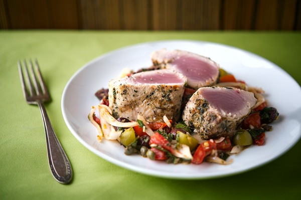 Sicilian grilled tuna recipe