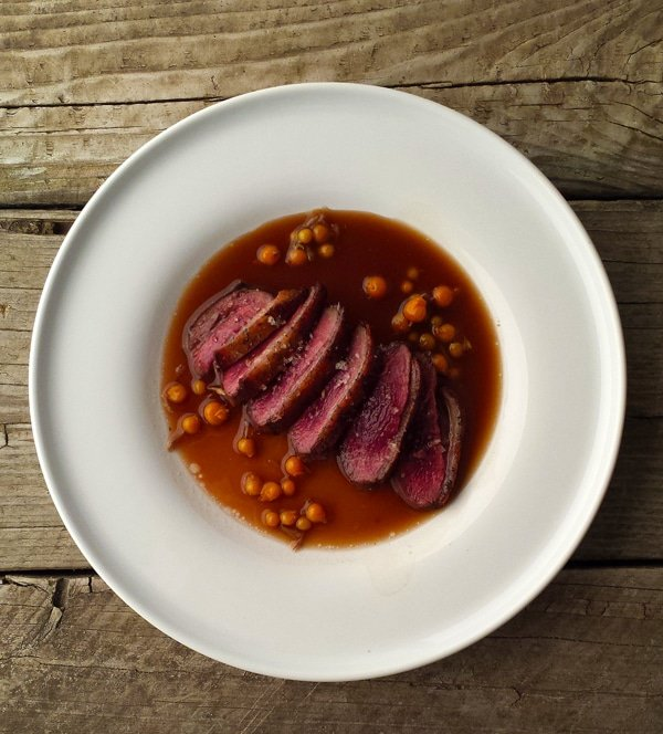 duck with beer sauce