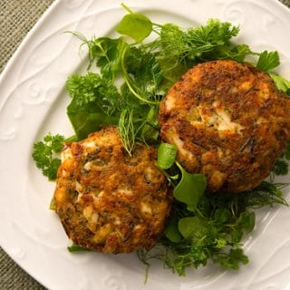 Fish Cakes with Wild Rice