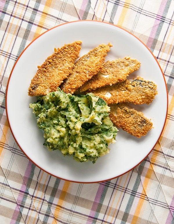 fresh fried herring