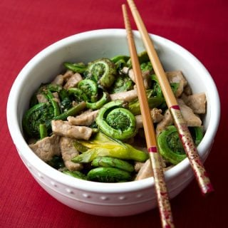 fiddlehead stir fry