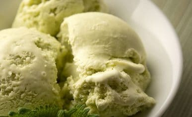 Wild mint leaf ice cream