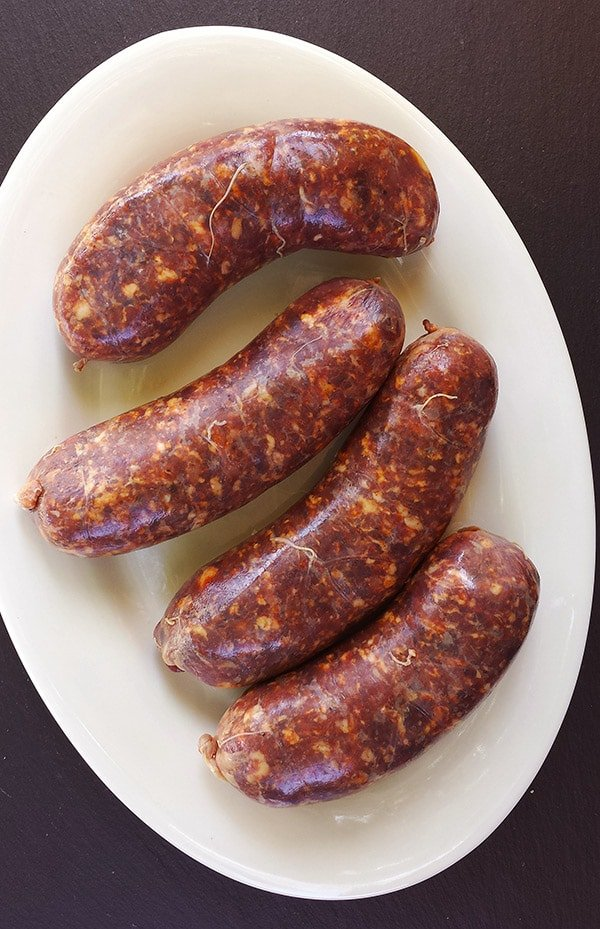Argentine chorizo sausage recipe on a platter