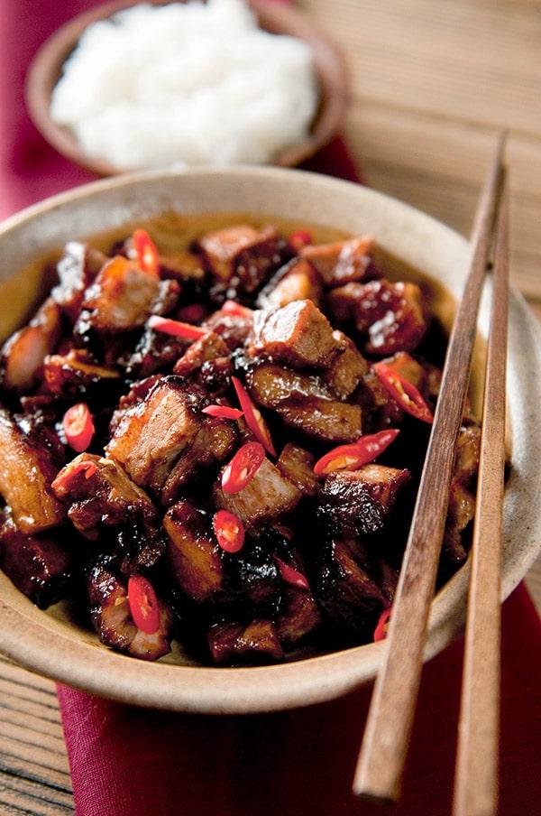 Char siu pork recipe in a bowl