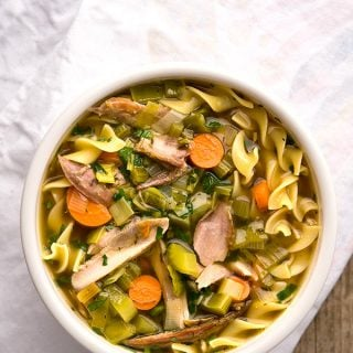 Pheasant noodle soup recipe