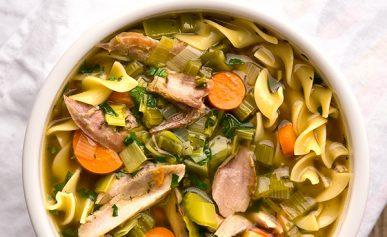 Pheasant noodle soup recipe