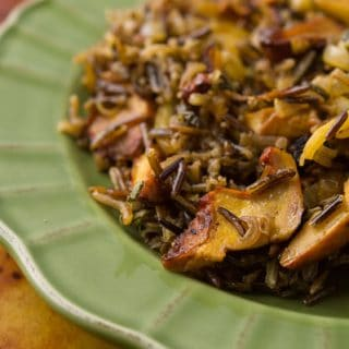 Wild Rice Salad with Mushrooms