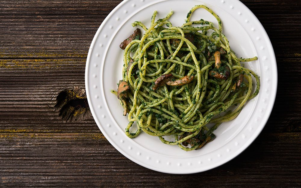 Nettle pesto with pasta