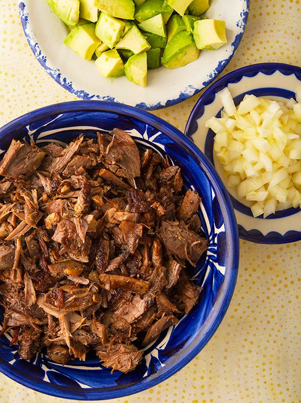 turkey carnitas in a bowl