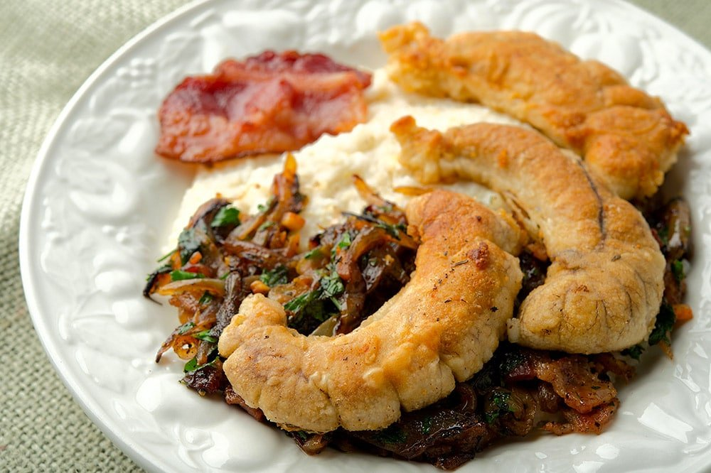 shad roe with bacon