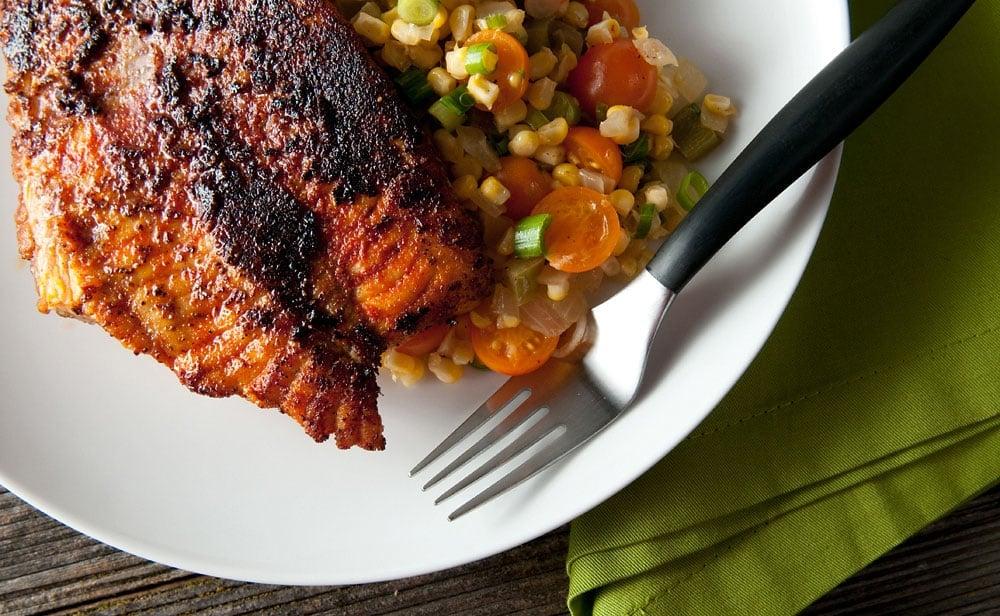 Cajun blackened fish