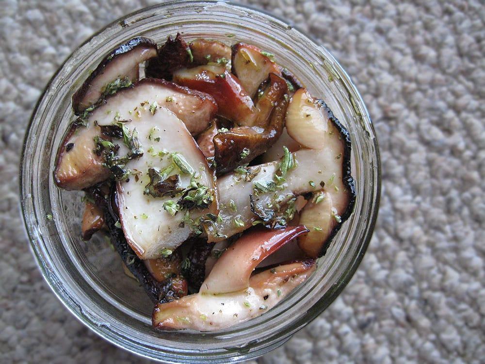 Porcini preserved in oil