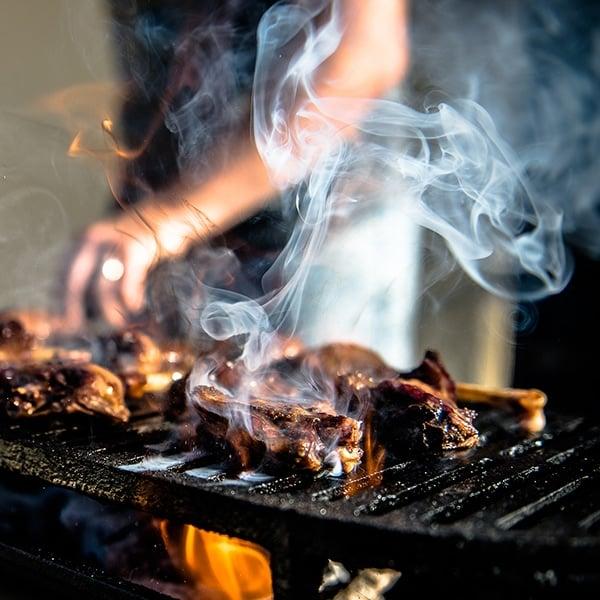 teriyaki duck legs on grill