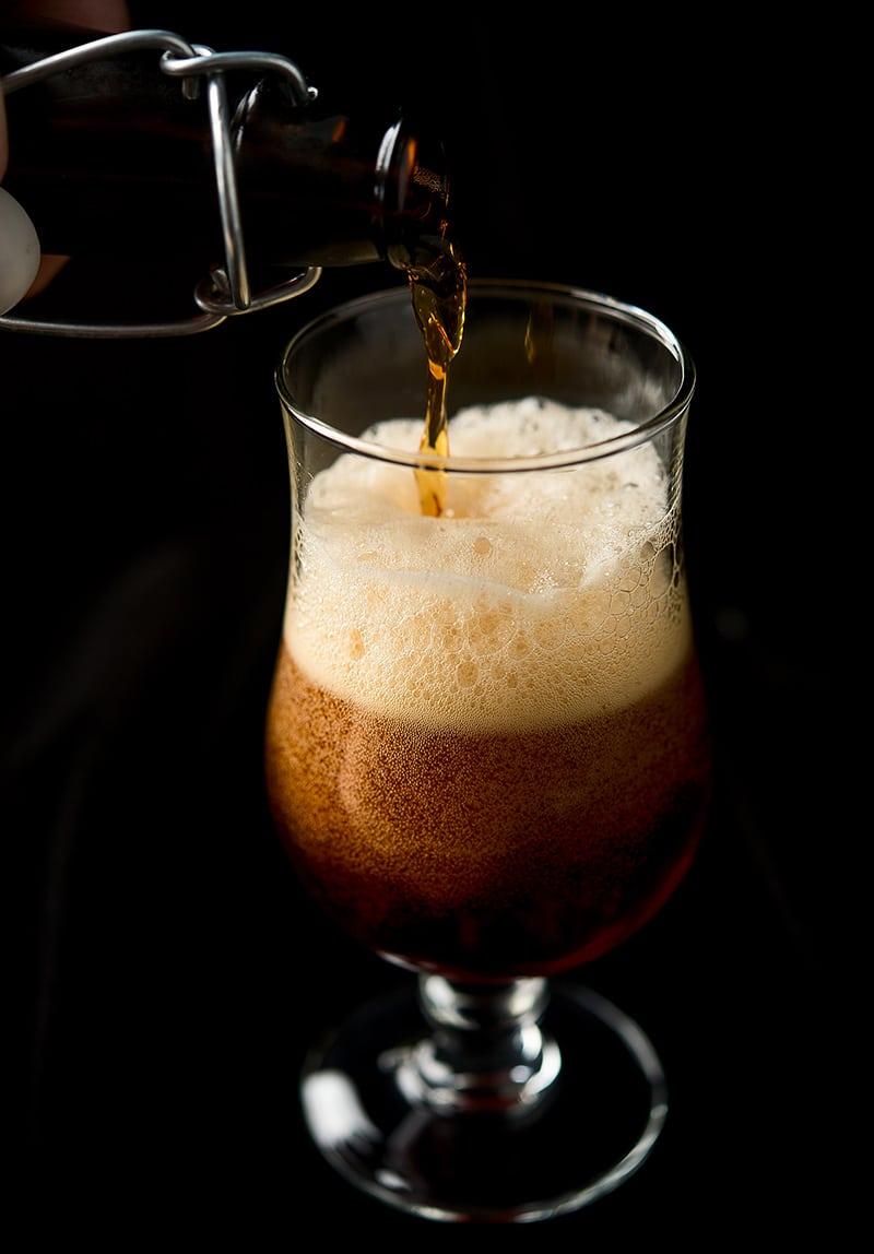 pouring juniper wild ale