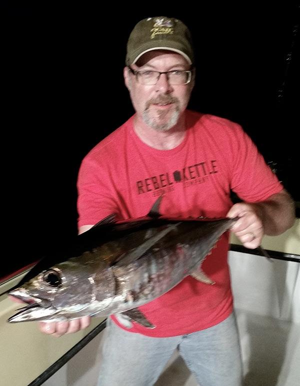Hank Shaw with a blackfin tuna.