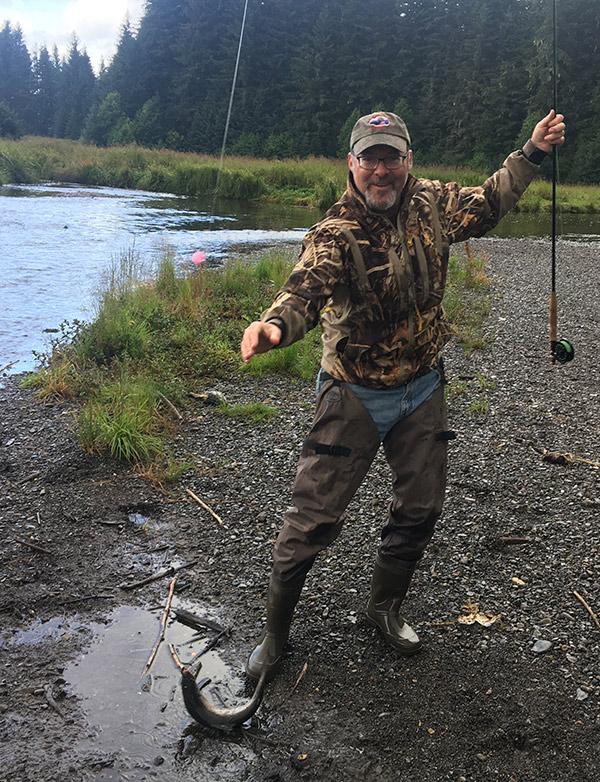 Hank Shaw fly fishing.