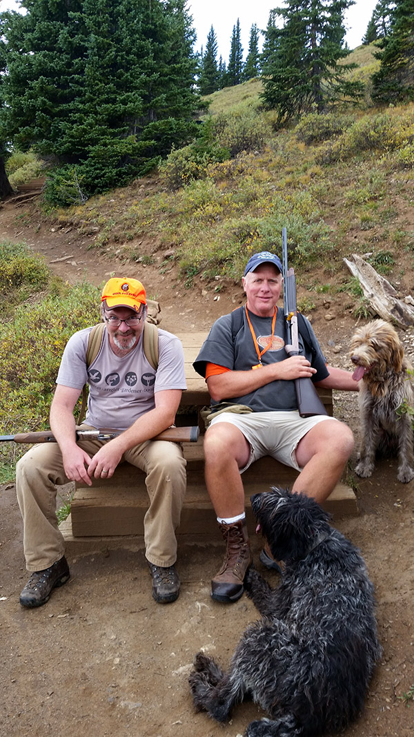 Hank Shaw and Jim Millensifer, after a ptarmigan hunt