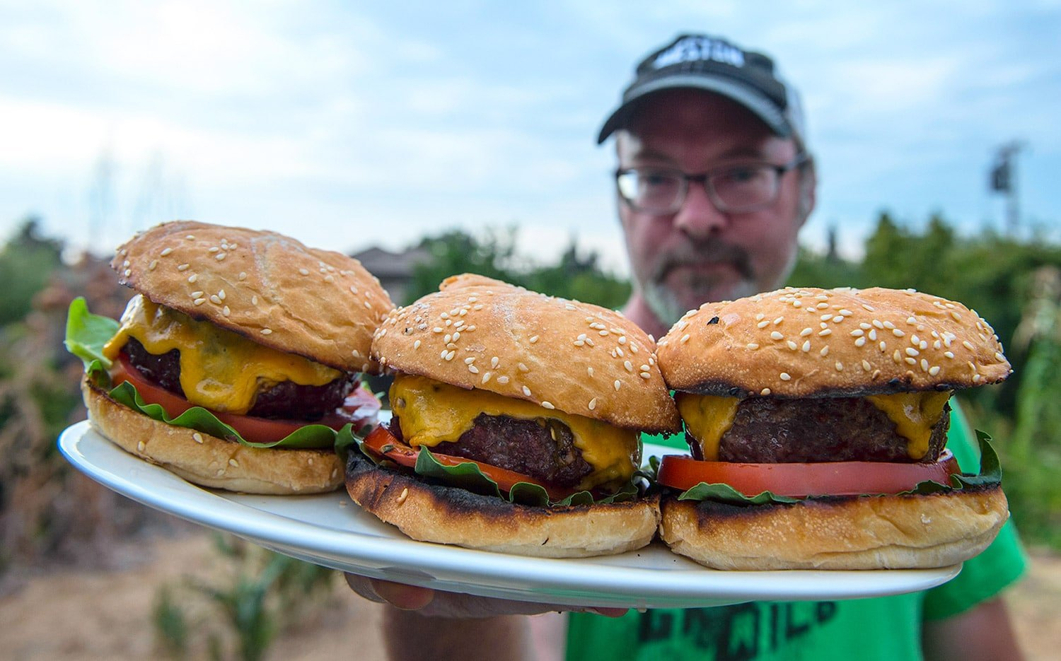 green chile elk burgers