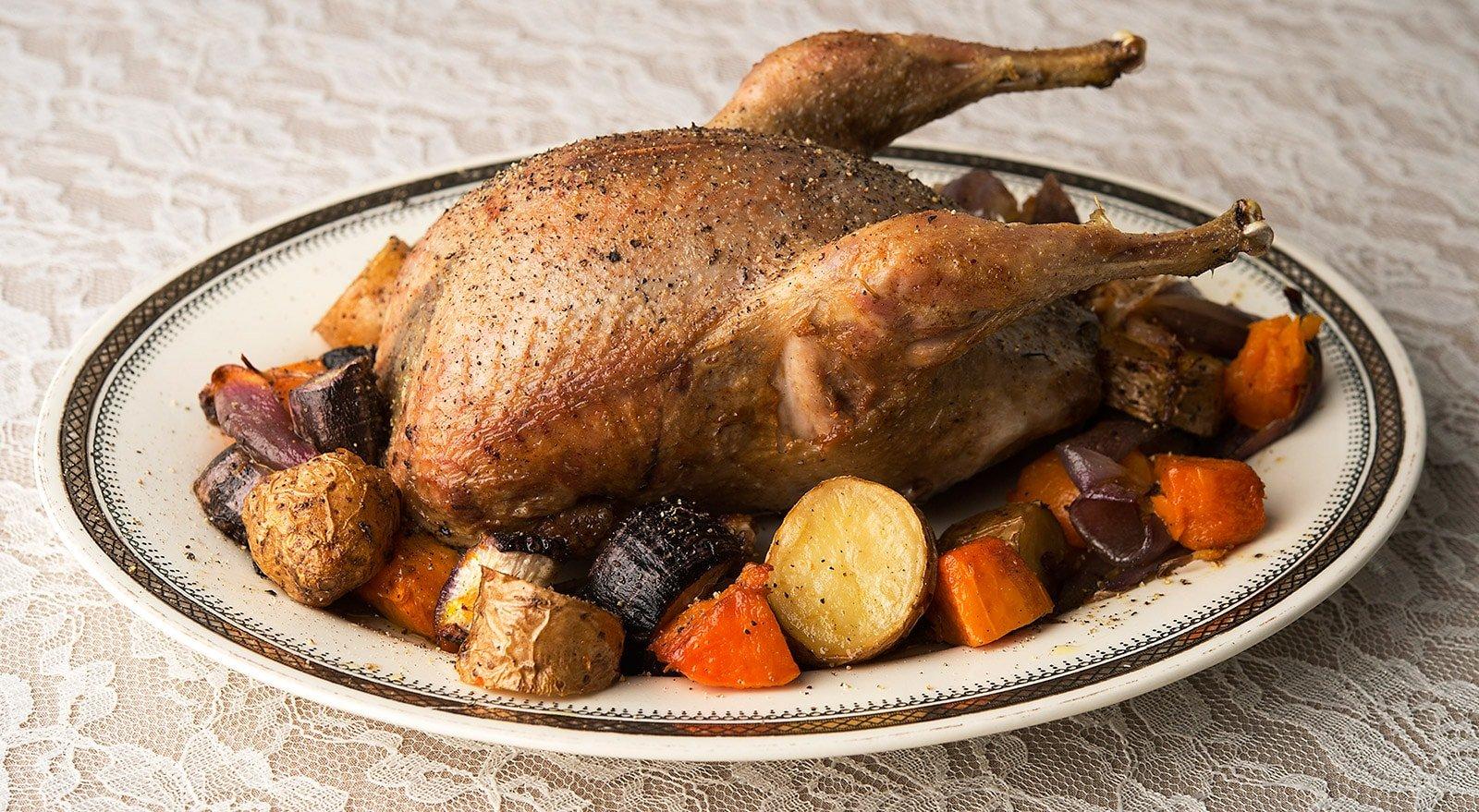 Roast sharp-tailed grouse