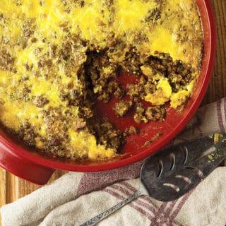 venison bobotie recipe in a casserole