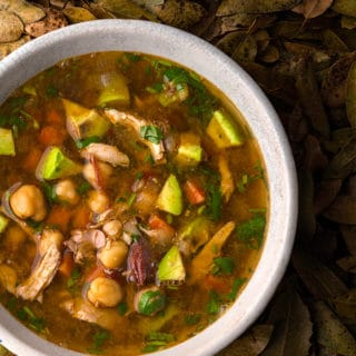 caldo tlalpeno soup in a bowl