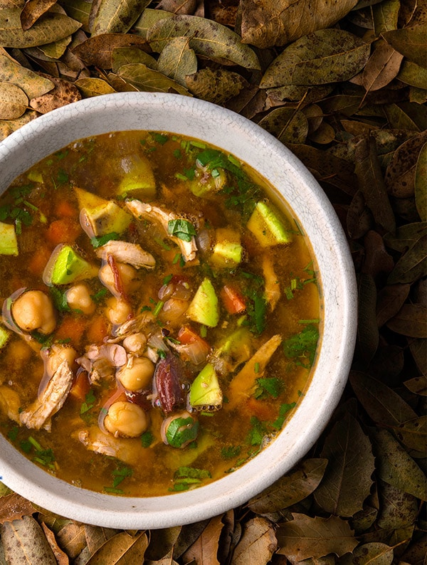 quail soup with epazote