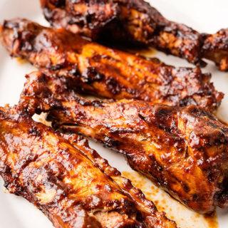 BBQ smoked turkey wings