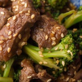 venison and broccoli