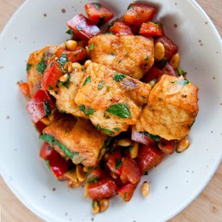 Spanish fish with paprika and tomatoes