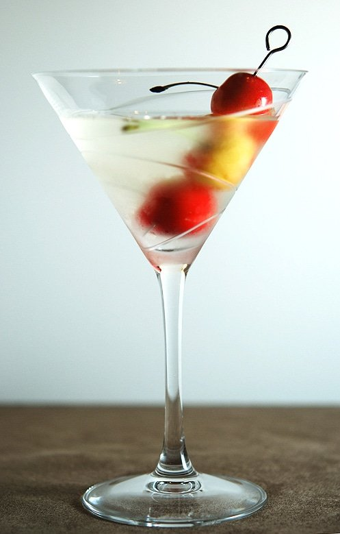 elderflower liqueur in a martini