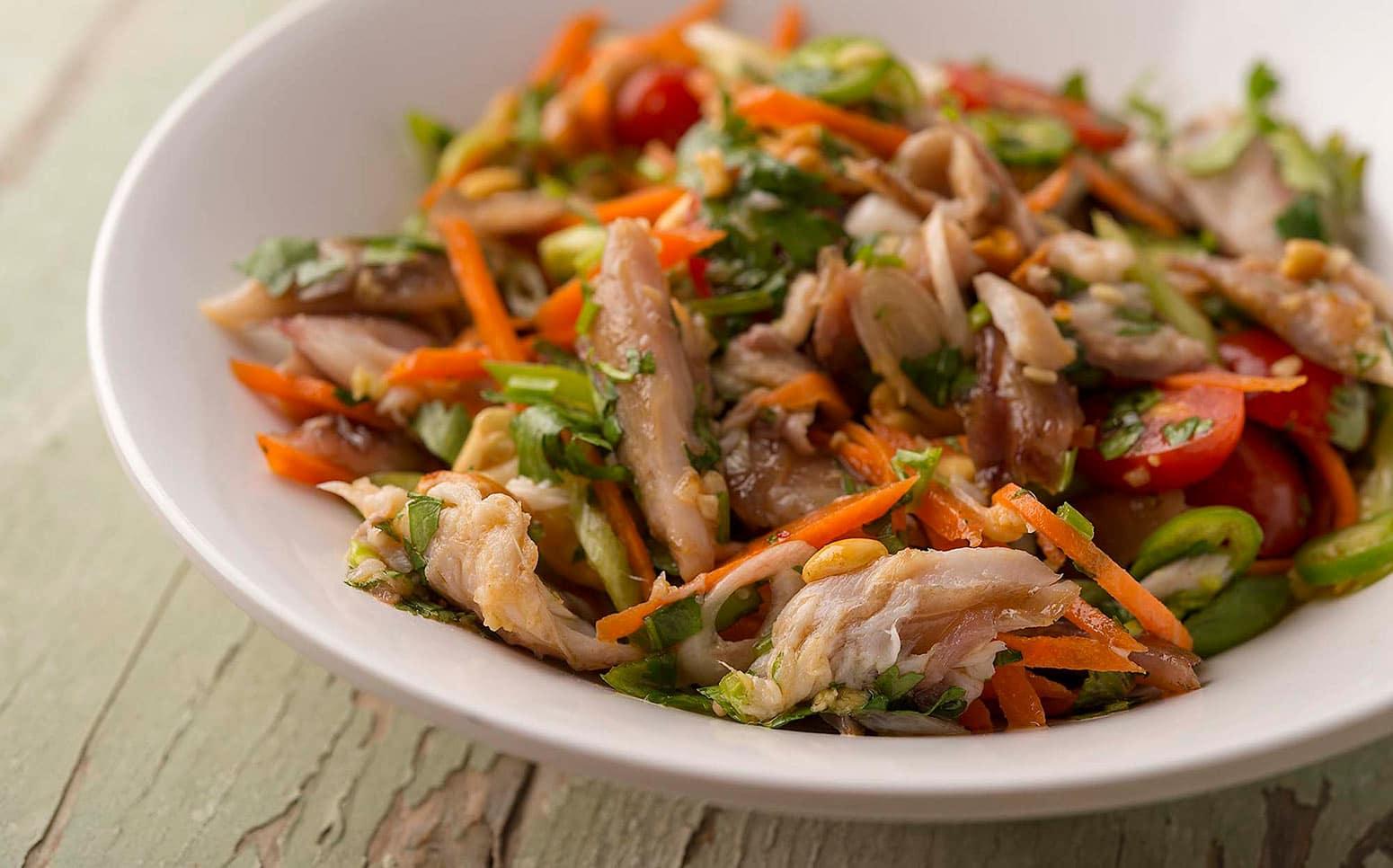 Vietnamese smoked fish salad