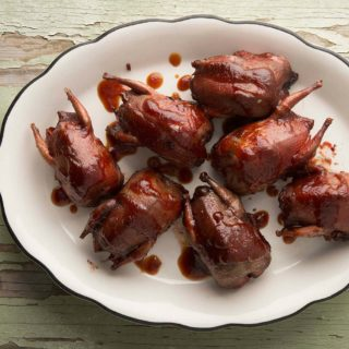 Doves with Prickly Pear BBQ Sauce