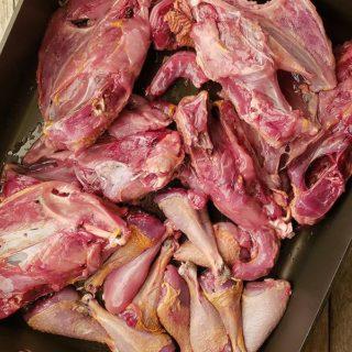 pheasant stock bones