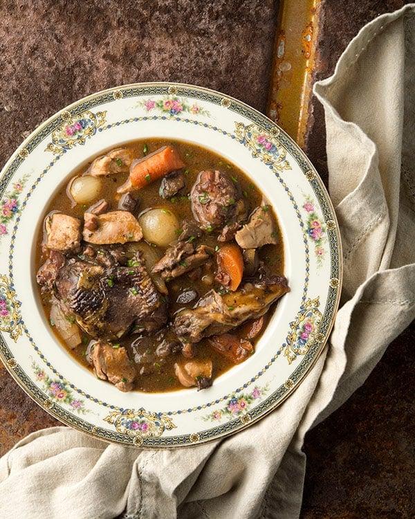 pheasant stew in a bowl