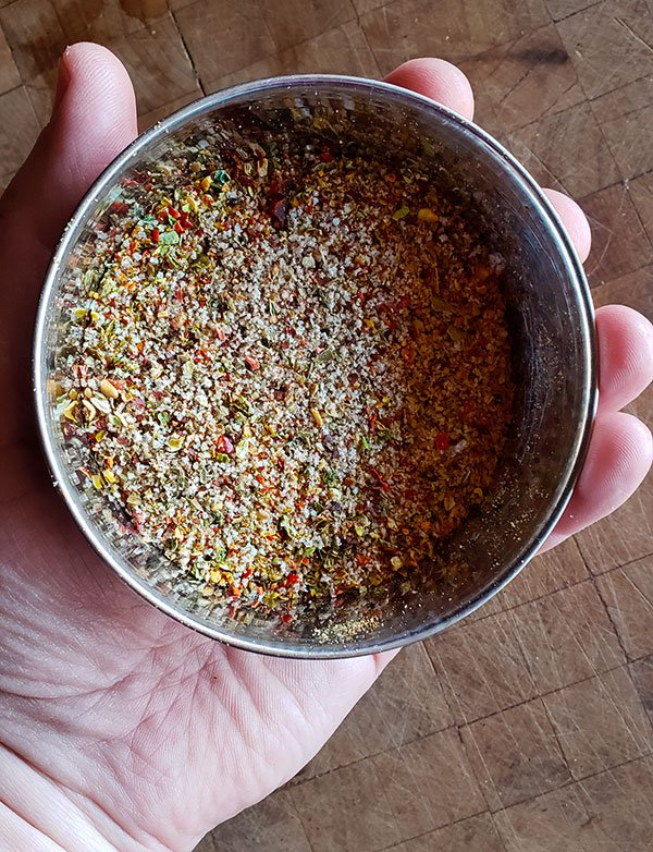 Spice mix for carne seca