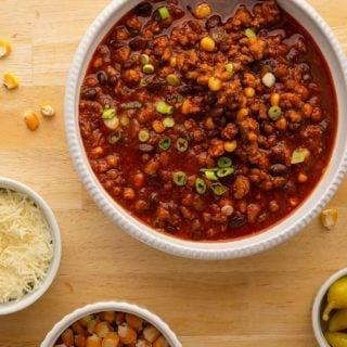 black bean turkey chili
