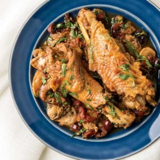 Braised turkey wings recipe on a plate