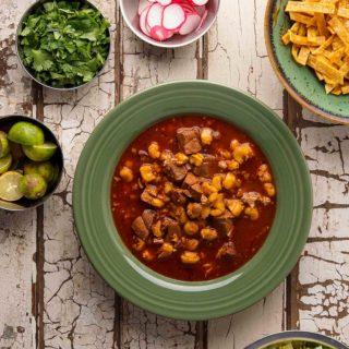 pozole rojo recipe with accompaniments