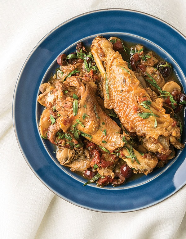 Finished French turkey wings recipe