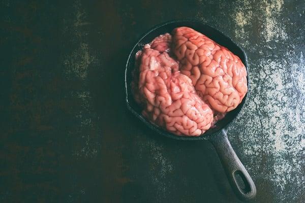 A brain in a frying pan